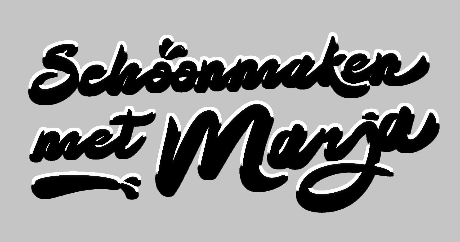 Schoonmaken met Marja logo zwart